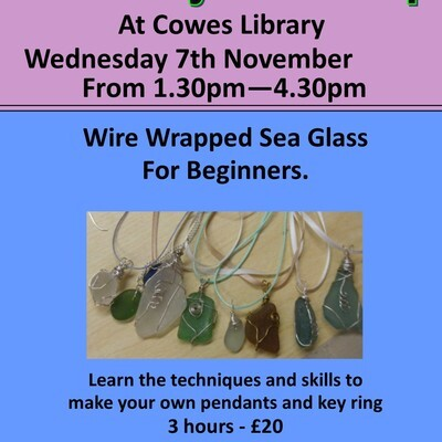 Wire Wrapped Sea Glass workshop
