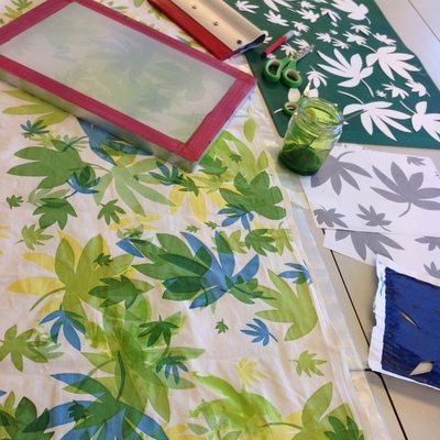 Quay Arts Textile Print workshop with Melanie Swan