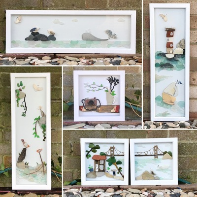 Creating Art with Sea Glass Workshop with Seacycle Studio at Tiny Homes Holidays Isle of Wight