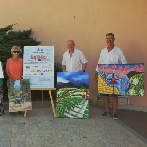 IOW Arts Artists return from Sardinia.